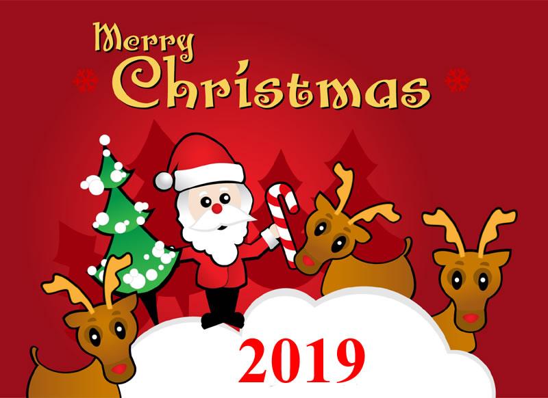 Image de Noël: Pere Noël 2019