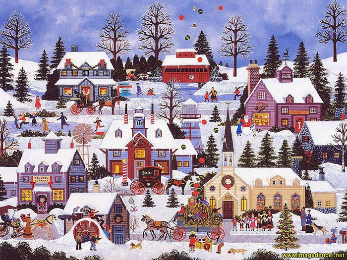 Image de Noël: Paysage
