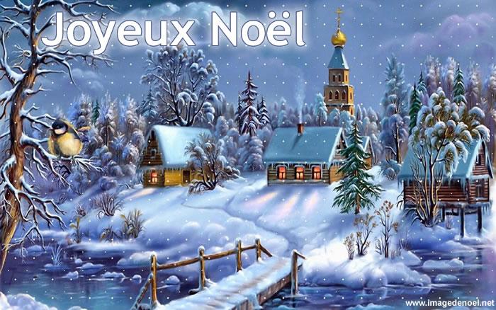 Image de Noël: Paysage de Noël