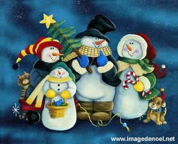 Image de Noël: Images Noël Bonhomme de Neige