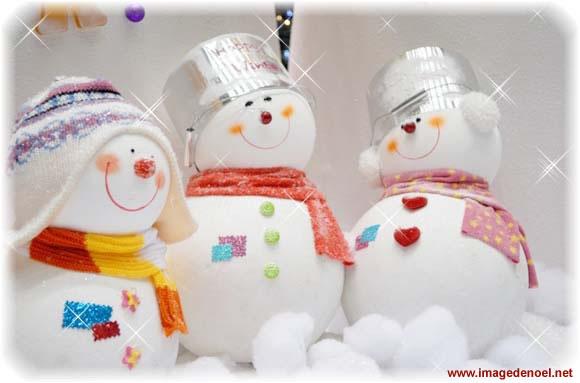 Image de Noël: Noël Bonhomme de neige
