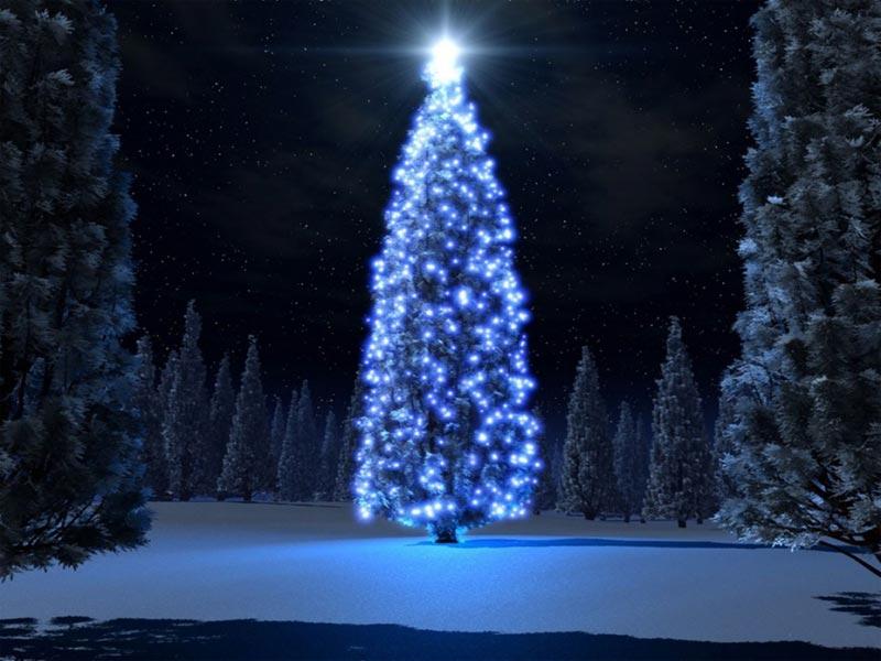 Image de Noël: Sapin Lumineux