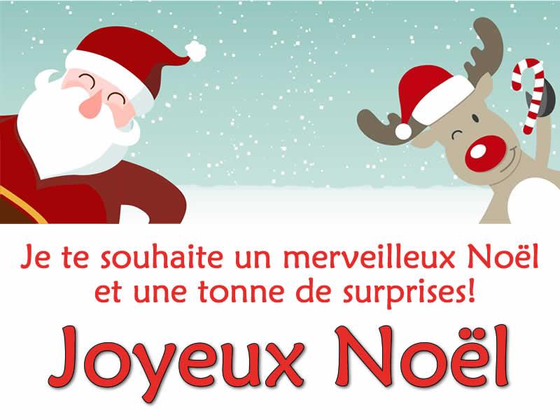 Image Père Noël: Image Père Noël avec rennes