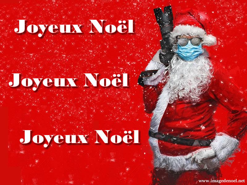 Père Noël Avec Le Masque