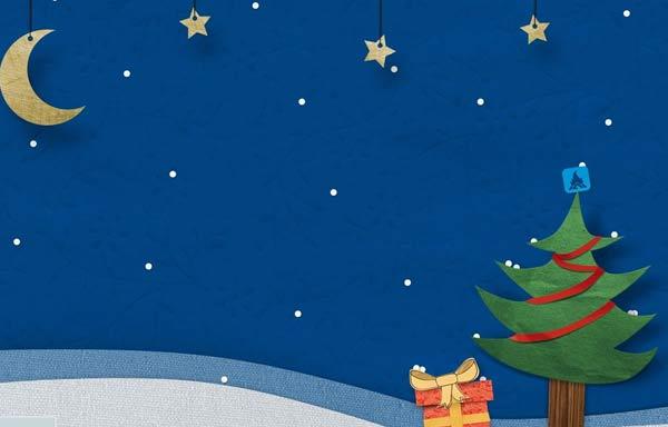 Image de Noël: Sapin de Noël et étoiles